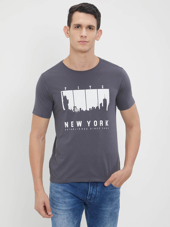 Fitz Polyster Cotton T Shirt For Men